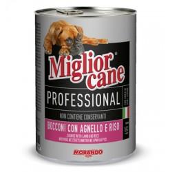 MIGLIORCANE PROFESSIONAL CON AGNELLO E RISO GR.405