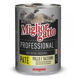 MIGLIORGATTO PATE PROFESSIONAL POLLO E TACCHINO GR.400