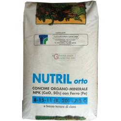 NUTRIL ORTO CONCIME GRANULARE ORGANO MINERALE 8.15.11. KG. 25