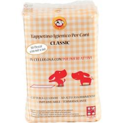 PANNOLINO CLASSICO PER CANI 60X60 CON POLIMERI TAPPETINO IGIENICO PZ. 10