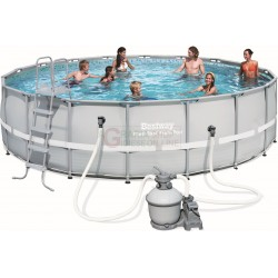 BESTWAY 56464 PISCINA CON TELAIO POWER STEEL FRAME CM. 549x132h.