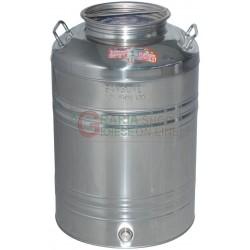 SANSONE CONTENITORE INOX LT. 50 CON PREDISPOSIZIONE RUBINETTO