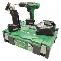 SET TRAPANO AVVITATORE HITACHI DS10DFL CON 2 BATTERIE LITIO
