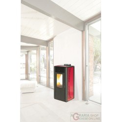 STUFA PELLET KING IDRO KW15 BORDEAUX
