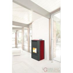 STUFA PELLET KING IDRO KW24 BORDEAUX