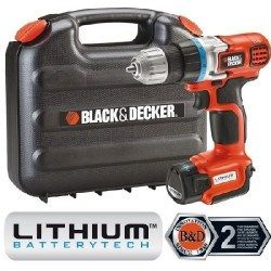 BLACK DECKER TRAPANO 10,8 LITIO MOD.EGBL108K+A7064