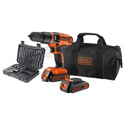 BLACK DECKER TRAPANO 18VP CON 2 BATTERIE LITIO MOD. EGBL188BS32