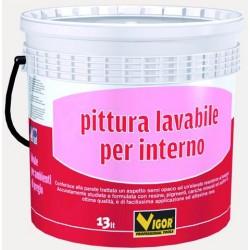 VIGOR PITTURA MURALE LAVABILE PER INTERNO BIANCO LT. 13
