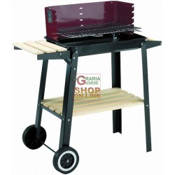 BLINKY BARBECUEE A LEGNA WOODY-48 CON RUOTE CM. 48X29 78790-40/7