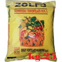 ZOLFO GIALLO SCORREVOLE TRIVENTILATO 95% KG. 25