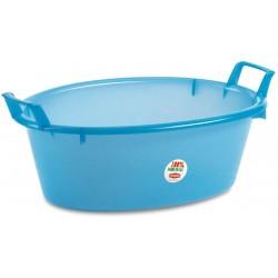 Bacinella In Plastica Ovale Azzurra diam. cm. 60 lt. 30