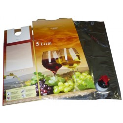 BAG IN BOX VINO COMPRESO DI SACCA LT. 5