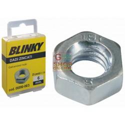 BLINKY DADI IN ACCIAIO ZINCATO BLISTER MM. 6