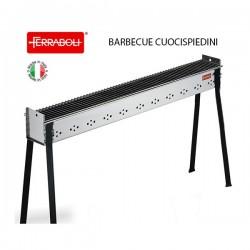 BARBECUE A CARBONE FERRABOLI CUOCISPIEDINI INOX cm. 115x14