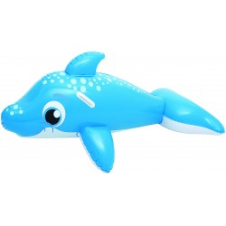 Bestway 41087 Delfino cavalcabile Blu Gonfiabile cavalcabile galleggiante per bambini cm. 157