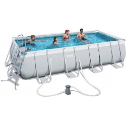 BESTWAY 56481 PISCINA CON TELAIO POWER STEEL FRAME CM.488x274x122h.