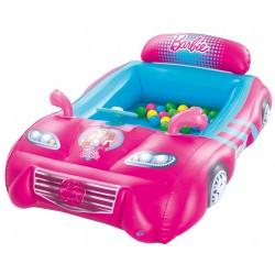 Bestway 93207 Auto Sportiva di Barbie con Volante e Schienale gonfiabile con 25 Palline Colorate