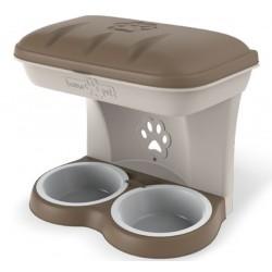 Ciotola per cani Bama Food Stand Maxi colore tortora kit da appendere a parete