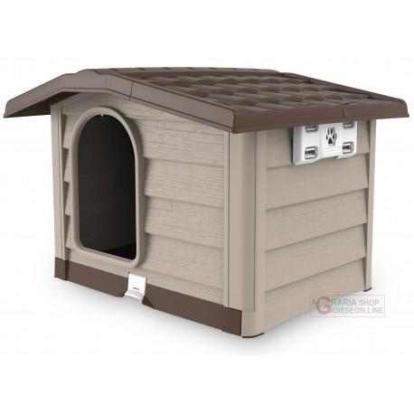 Cuccia per cani di large taglia Bama Bungalow beige dimensioni cm. 110x94x77