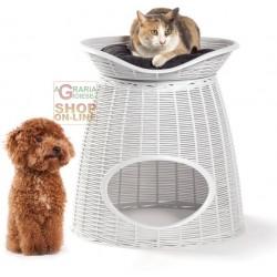 Cuccia per Cani e Gatti Bama PASHA Ghiaccio cm. 52x50x46/55h.