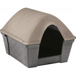 Cuccia per cani in plastica resistente Casa Felice Media Tortora chiaro cm. 82x68x62h.