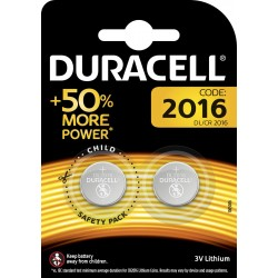 DURACELL BATTERIA A BOTTONE CR2016 W.3 PZ. 2