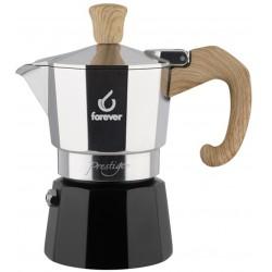 FOREVER Macchina del caffè caffettiera Miss Woody effetto legno 2 tazze