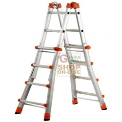 GIERRE PEPPINA SCALA TELESCOPICA ALLUNGABILE  SUPER EN131 KG. 150 5+5 GRADINI