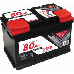 HIGH CAR BATTERIA PER AUTO 80Ah SPUNTO 680A CM. 27,6x17,5x19h.