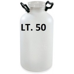 BOTTIGLIONE IN PLASTICA BIANCO LT. 50 B.L. PLASTIM
