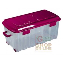BOX VOYAGER IN PLASTICA CON COPERCHIO RUOTE E MANIGLIA LT. 70