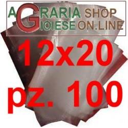 BUSTE GOFFRATE CM.12X20 SACCHETTI PER SOTTOVUOTO CF. 100 PZ