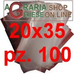 BUSTE GOFFRATE CM.20X35 SACCHETTI PER SOTTOVUOTO CF. 100 PZ