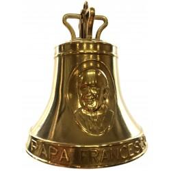 Campana in ottone commemorazione Papa Francesco dimensine mm.