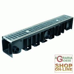 CANALETTA CON GRIGLIA ZINCATA B125 100X12X17H ALFA 100/120