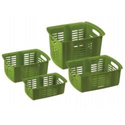 MAZZEI Hobby Basket 4 Cestino Sovrapponibile cm. 42x32x25,5h. 23,8 litri