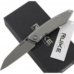 RUIKE RKE P128-SF COLTELLO CHIUDIBILE CON MANICO GRIGIO CM. 21,7