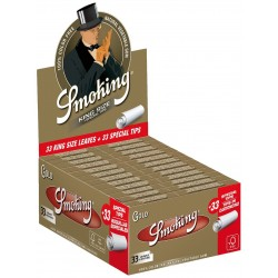 Smoking Oro King Size Cartine Lunghe Scatola 50 pacchetti