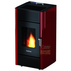 STUFA FREEPOINT-CADEL A PELLET LEONORA KW. 7 ROSSO