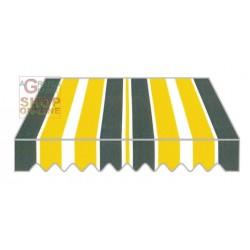 TENDA DA SOLE CON BRACCIA RETRATTILI CM.300X250 TESS. P3002