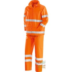 FULL JACKET AND PANT IN POLYESTER PVC WITH REFLECTIVE BANDS ORANGE TG M-L-XL-XXL