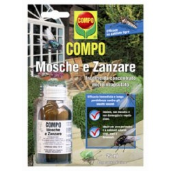 COM CONCENTRATED INSECTICIDE FOR Flies and Mosquitoes Draker 10.2 ML. 25