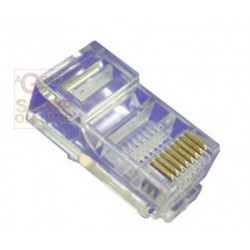 CONNETTORE PLUG RJ 45 CATEGORIA 5 UTP PZ. 100