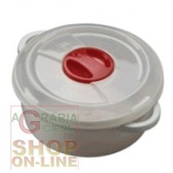 CONTENITORE IN PLASTICA PER MICROONDE CON VALVOLA LT. 1,5
