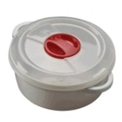 CONTENITORE IN PLASTICA PER MICROONDE CON VALVOLA LT. 2