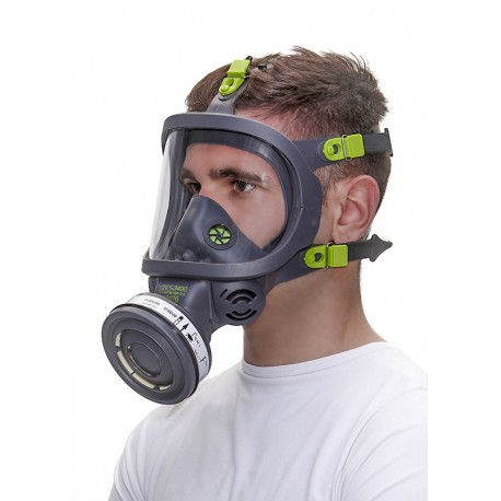 GAS MASK FACIAL BLS WITH EYE PROTECTION SCREEN POLYCARBONATE TR82