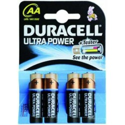 DURACELL PILE ULTRA-POWER ALK. 4 PEZZI STILO AA 1500