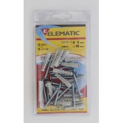 ELEMATIC BLISTER TASSELLI E/VA 6 PZ. 15