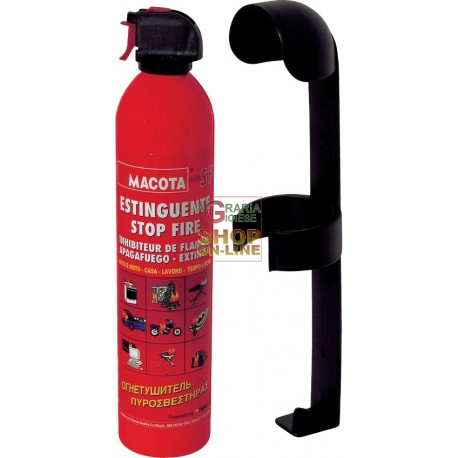 ESTINTORE PORTATILE STOP FIRE CON SUPPORTO PER AUTO CAMION KG. 1