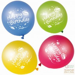 FACKELMANN 8 PALLONCINI HAPPY BIRTHDAY COLORI ASSORTITI ART.